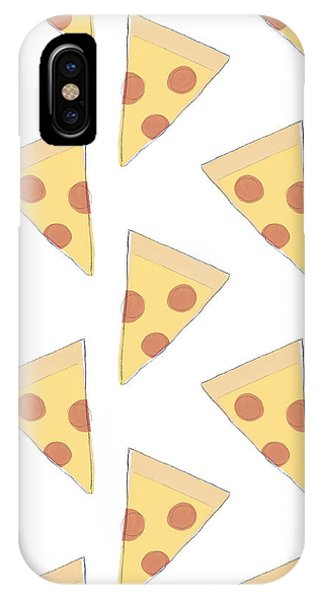 Dinner iPhone Case - Pepperoni Pizza- Art By Linda Woods by Linda Woods