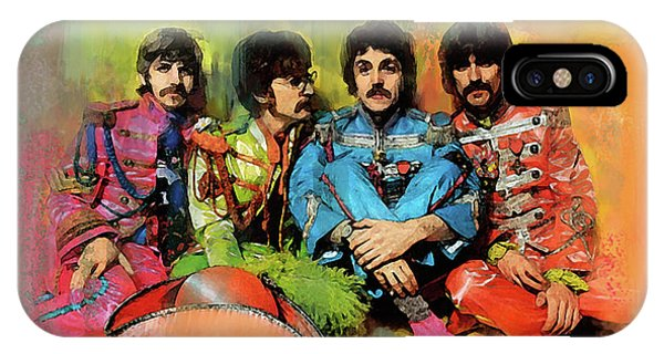 Peppers Band  The Beatles IPhone Case