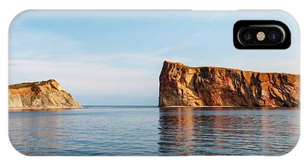 IPhone Case featuring the photograph Perce Rock At Gaspe Peninsula by Elena Elisseeva