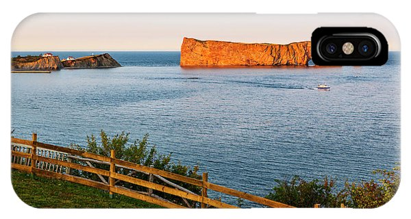 IPhone Case featuring the photograph Perce Rock At Sunset by Elena Elisseeva