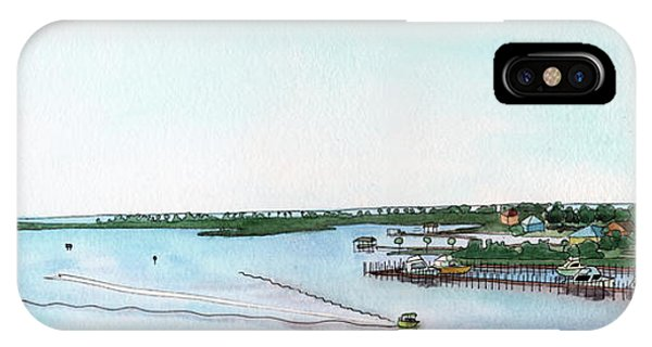 IPhone Case featuring the painting Perdido Key Bay by Betsy Hackett