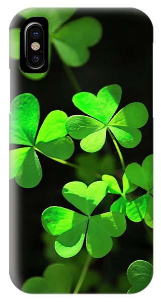 Perfect Green Shamrock Clovers IPhone Case