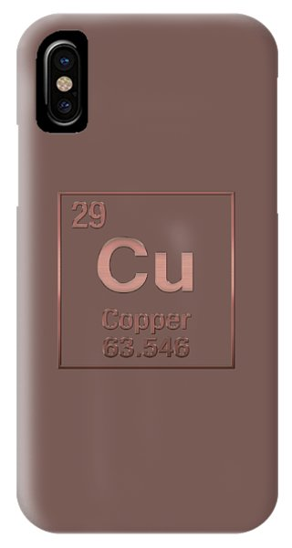 Periodic Table Of Elements - Copper - Cu - Copper On Copper IPhone Case