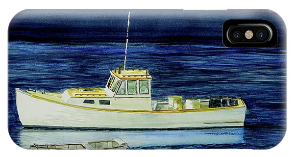 Perkins Cove Lobster Boat And Skiff IPhone Case
