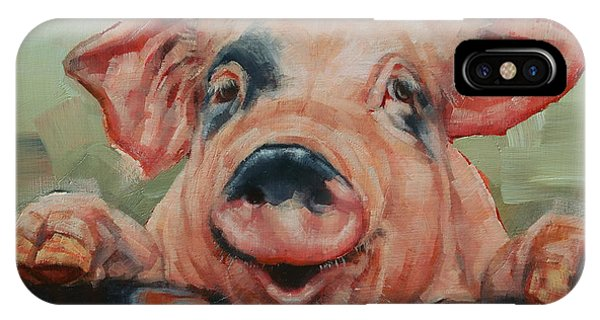 Perky Pig IPhone Case