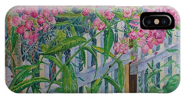 Perky Pink Phlox In A Dahlonega Garden IPhone Case