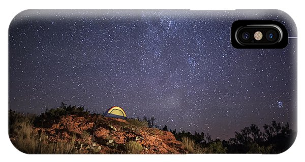 Perseids Over Caprock Canyons IPhone Case