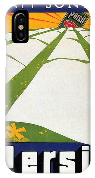 Sonne iPhone Case - Persil - Statt Sonne - Vintage Advertising Poster For Detergent by Studio Grafiikka