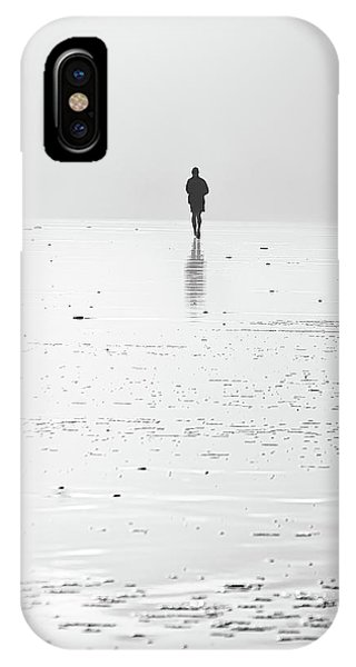 Person Running On Beach IPhone Case