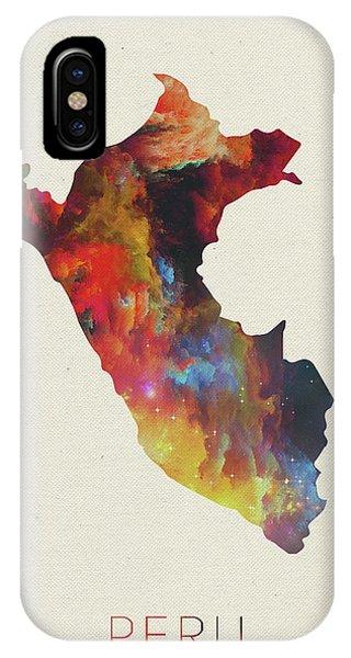 Peru iPhone Case - Peru Watercolor Map by Design Turnpike