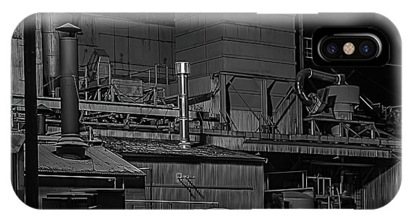 iPhone Case - Petaluma Mill Black And White by Bill Gallagher