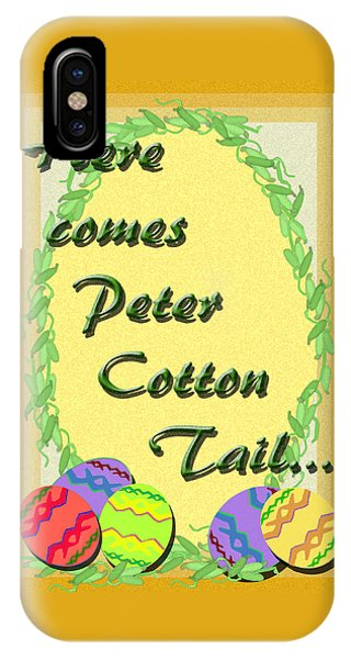 iPhone Case - Peter Cotton Tail by Michelle Audas