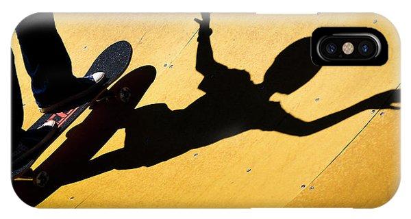 Peter Pan Skate Boarding IPhone Case