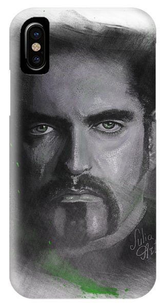 IPhone Case featuring the drawing Peter Steele, Type O Negative by Julia Art