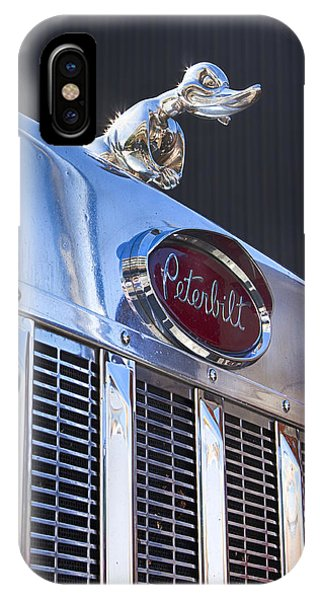 Trucking iPhone Case - Peterbilt Angry Duck by Theresa Tahara