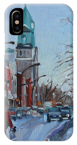 Petite Italie, Montreal Winter Scene IPhone Case