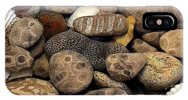 Petoskey Stones With Shells L IPhone Case