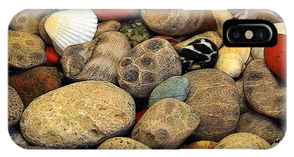 Petoskey Stones With Shells Ll IPhone Case