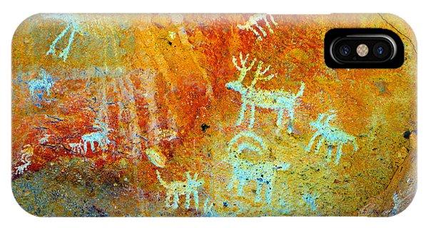 iPhone Case - Petroglyph Panel Work 12 by David Lee Thompson