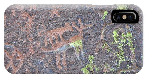 Petroglyph Wolf Attack IPhone Case
