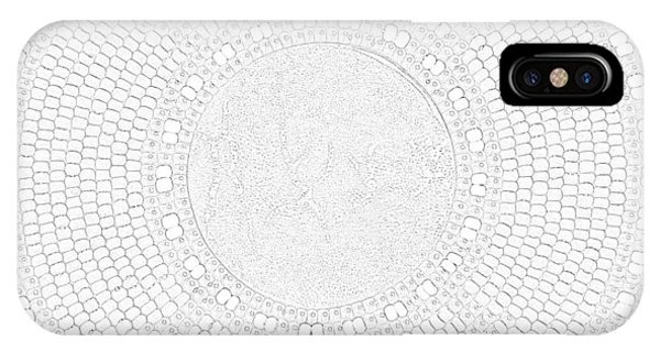 IPhone Case featuring the mixed media Petrograph Turtle-2 by Douglas K Limon