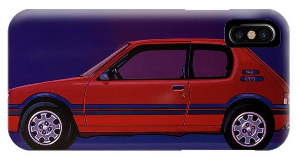Estate iPhone Case - Peugeot 205 Gti 1984 Painting by Paul Meijering