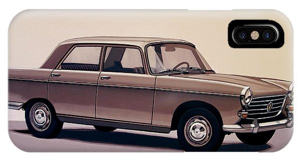 Oldtimer iPhone Case - Peugeot 404 1960 Painting by Paul Meijering