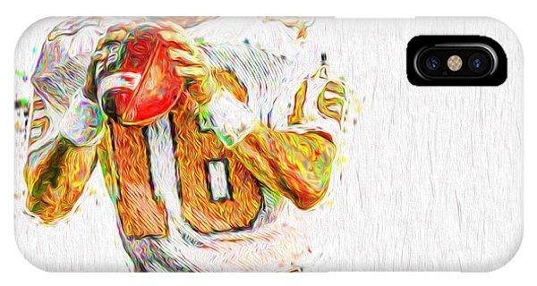 Peyton Manning Nfl Football Painting Tv IPhone Case