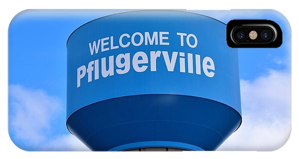 Pflugerville Texas - Water Tower IPhone Case