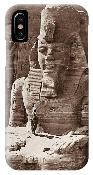 Pharaoh iPhone Case - Pharaoh Ramses II - Egyptian Architecture - Circa 1856 by War Is Hell Store