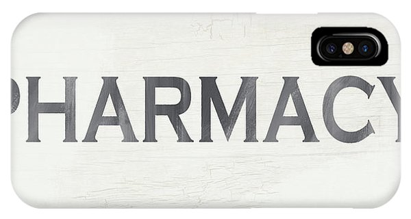 Wood iPhone Case - Pharmacy Sign- Art By Linda Woods by Linda Woods