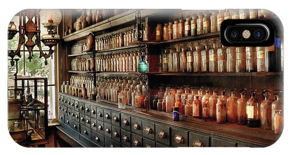 Wizard iPhone Case - Pharmacy - So Many Drawers And Bottles by Mike Savad