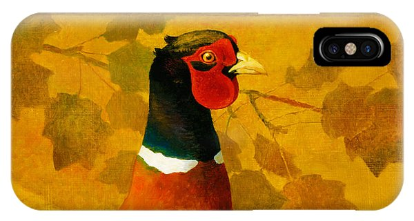 Pheasant In Yellow IPhone Case