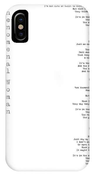 Phenomenal Woman By Maya Angelou - Feminism Poetry IPhone Case