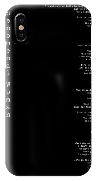 Phenomenal Woman By Maya Angelou - Feminist Poetry IPhone Case