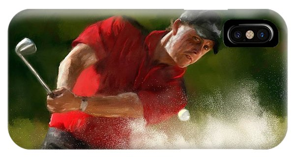 Golf Ball iPhone Case - Phil Mickelson - Lefty In Action by Colleen Taylor