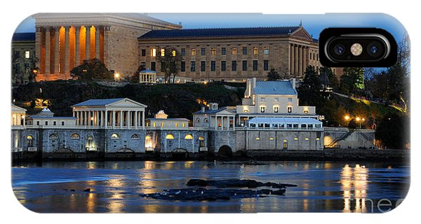 Exterior iPhone Case - Philadelphia Art Museum And Fairmount Water Works by Gary Whitton