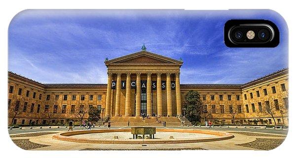 Angle iPhone X Case - Philadelphia Art Museum by Evelina Kremsdorf