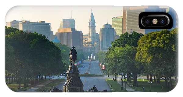 Philadelphia Benjamin Franklin Parkway IPhone Case