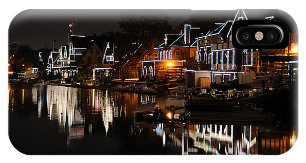 Philadelphia Boathouse Row At Night IPhone Case