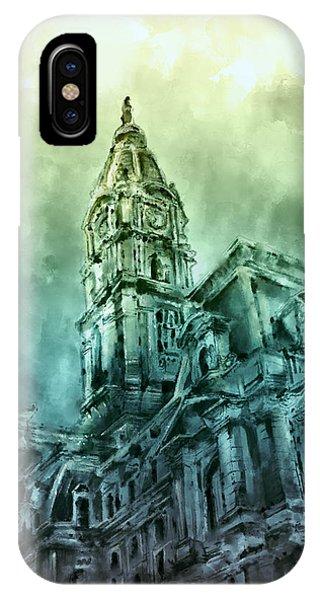 Philadelphia City Hall Green IPhone Case