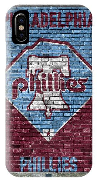 Philadelphia Phillies Stadium iPhone Case - Philadelphia Phillies Brick Wall by Joe Hamilton