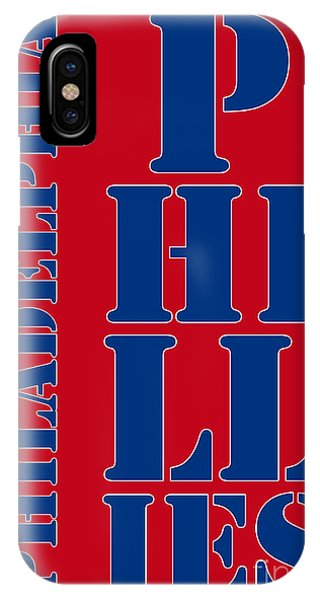 Pub iPhone Case - Philadelphia Phillies Typography by Drawspots Illustrations