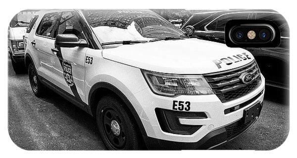 Philadelphia Police Ford Interceptor Utility Patrol Car Vehicle Usa IPhone Case