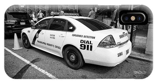 Philadelphia Sheriffs Office Chevy Impala Police Cruiser K-9 Unit Explosives Detection Vehicle Usa IPhone Case