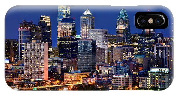 Philadelphia Skyline At Night IPhone Case