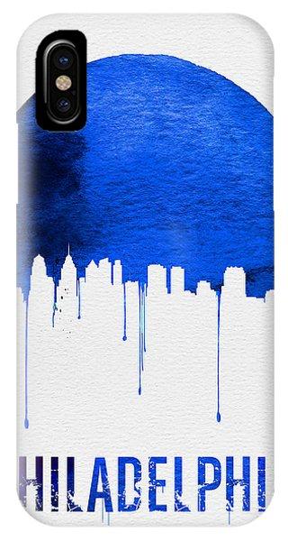Philadelphia Skyline Blue IPhone Case