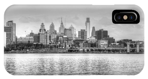 Philadelphia Skyline In Black And White IPhone Case