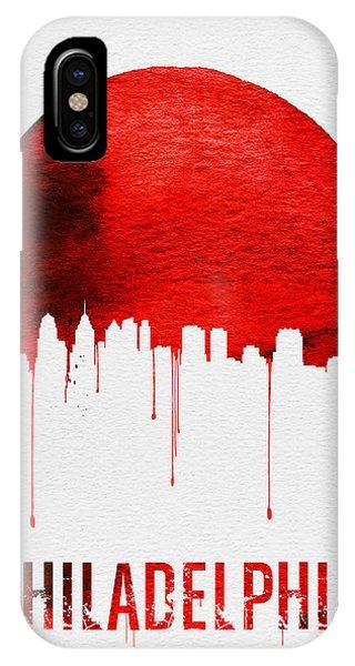 Philadelphia Skyline Redskyline Red IPhone Case