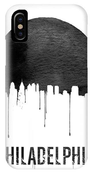 Philadelphia Skyline White IPhone Case